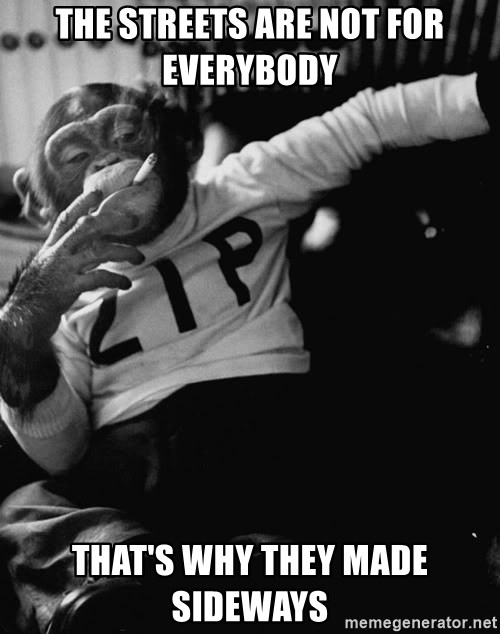 SMOKING MONKEY - The streets are not for everybody  That's why they made sideways