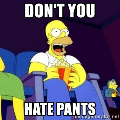 Homer Simpson Popcorn - don't you hate pants