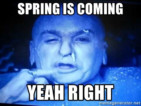 59761229 spring is coming yeah right dr evil freezing meme generator