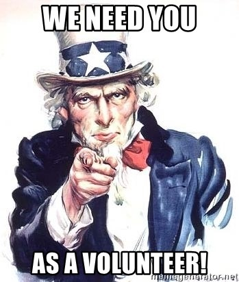 Uncle Sam - we need you as a volunteer!