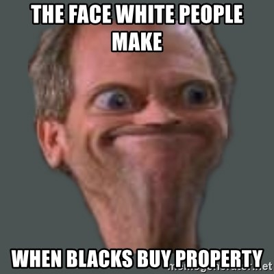Housella ei suju - the face white people make when blacks buy property