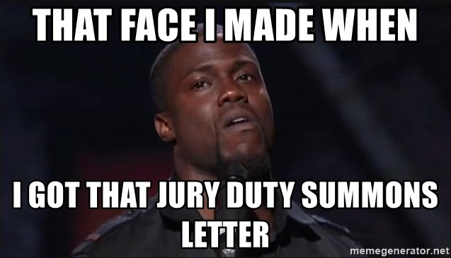Kevin Hart Face - That face I made when I got that jury duty summons letter