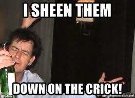 Drunk Charlie Sheen - I Sheen them Down on the crick!