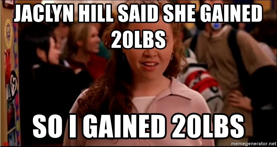 jaclyn hill said she gained 20lbs so i gained 20lbs jaclyn hill said she gained 20lbs so i gained 20lbs mean girls