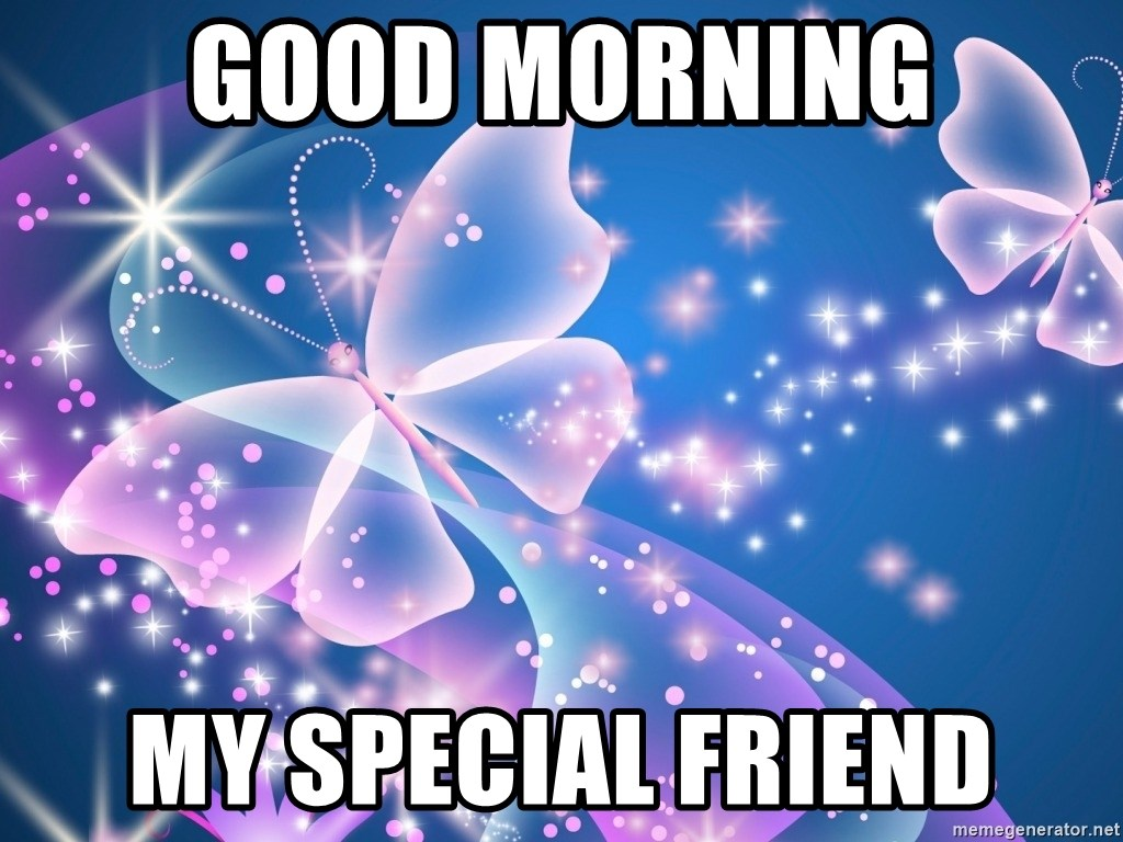 Good Morning My Special Friend Goodnight Butterfly Meme Generator