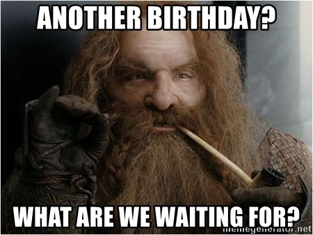 another birthday what are we waiting for another birthday? what are we waiting for? simply gimli meme