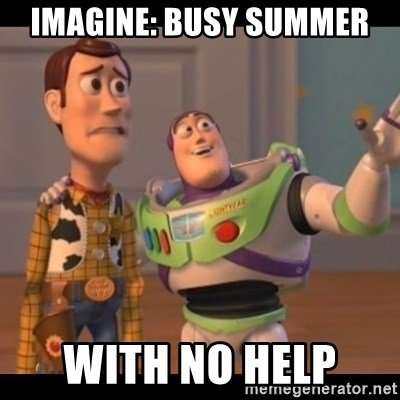 Toy Story buzz - Imagine: Busy summer With No help