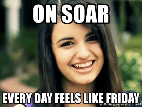 Rebecca Black Fried Egg - On soar every day feels like Friday