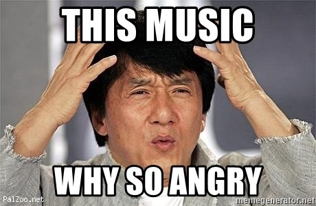 this music why so angry - Confused Jackie Chan | Meme Generator