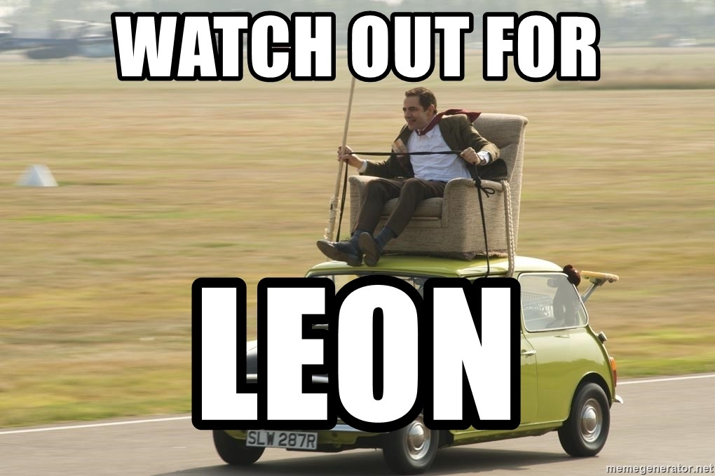 mr bean mini cooper - Watch Out for Leon