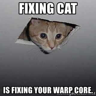 Fixing cat is fixing your warp core ceiling cat meme generator ceiling cat fixing cat is fixing your warp core sciox Image collections