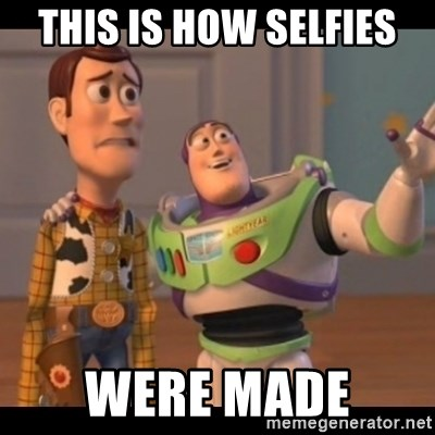 Toy Story buzz - this is how selfies  were made