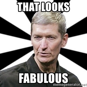 Tim Cook Time - That looks FABULOUS