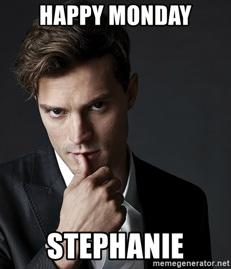 Christian Grey Jamie Dornan - happy monday stephanie