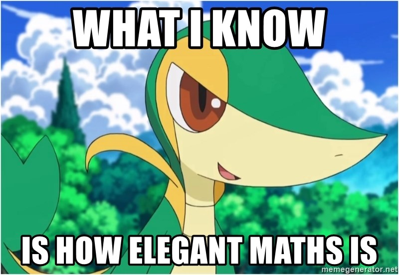 Snivy - What I know is how elegant Maths is