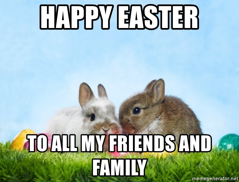 Happy Easter To All My Friends And Family Easter Bunnies Meme