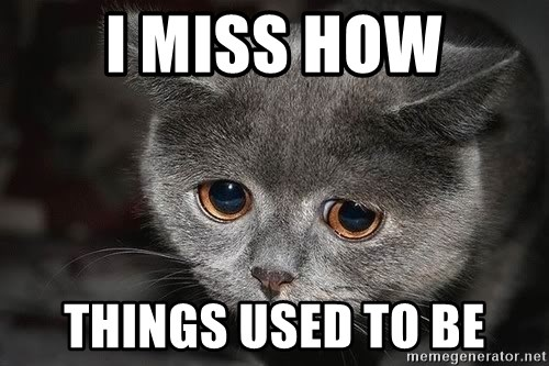 I Miss How Things Used To Be Sad Cat Meme Generator