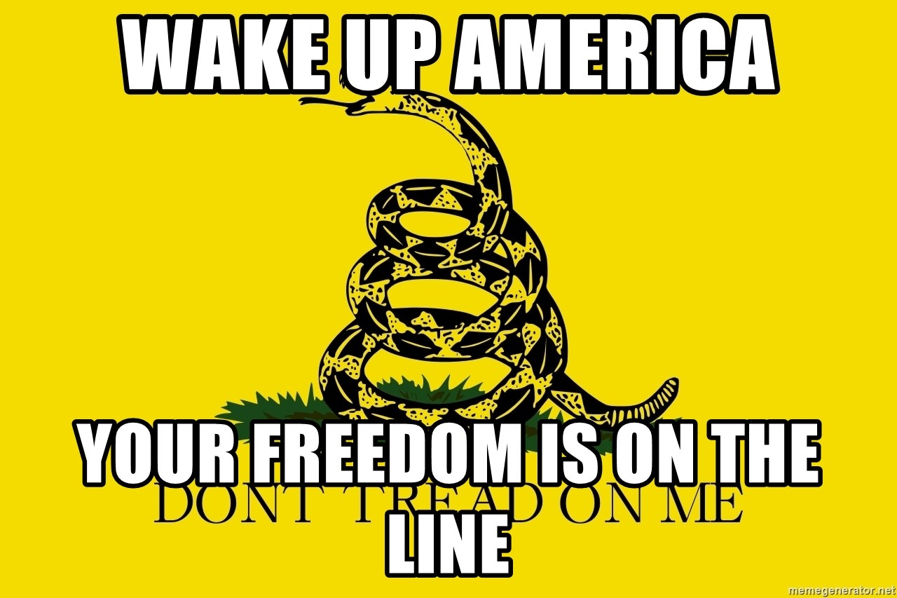 Don't tread on me - Wake Up America Your freedom is on the line