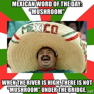 Mexican Word Of The Day Mushroom