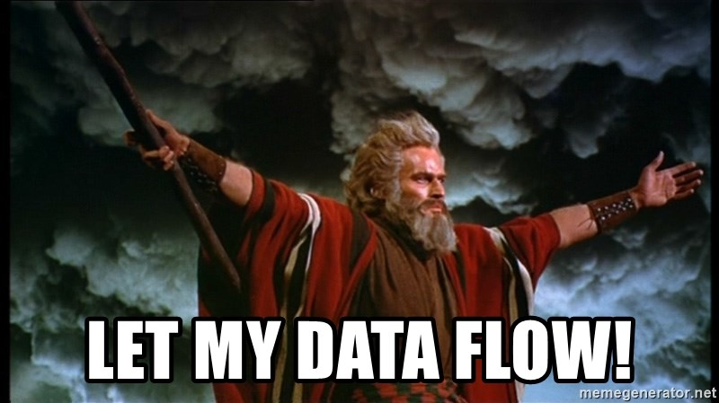 Image result for let the data flow meme'