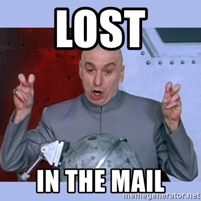 Lost In The Mail Dr Evil Meme Meme Generator