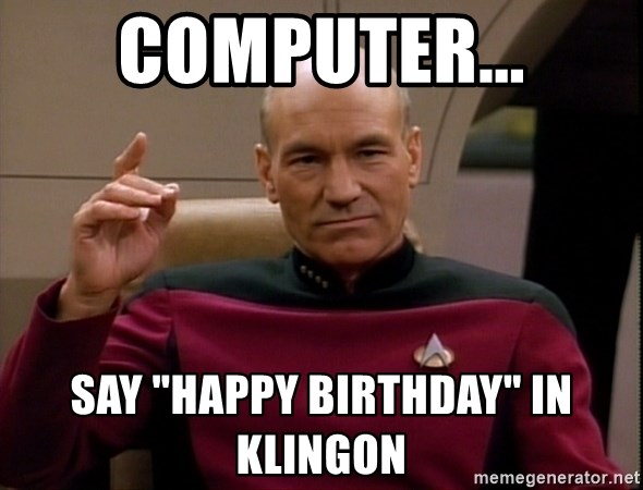 How to say happy birthday in klingon