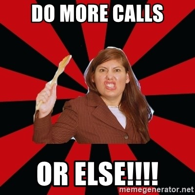 Angry Mom - DO MORE CALLS OR ELSE!!!!