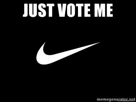 Nike swoosh - Just Vote Me