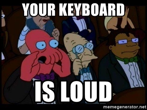 Your Keyboard Is Loud Zoidberg Meme Generator