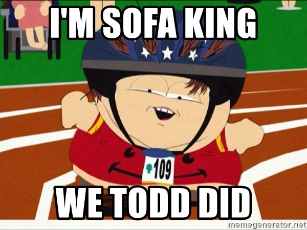 Sofa King We Todd Did Cartman