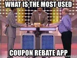 What is the most used coupon rebate app - Family Feud Steve