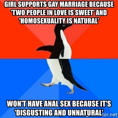 Anal sex is unnatural