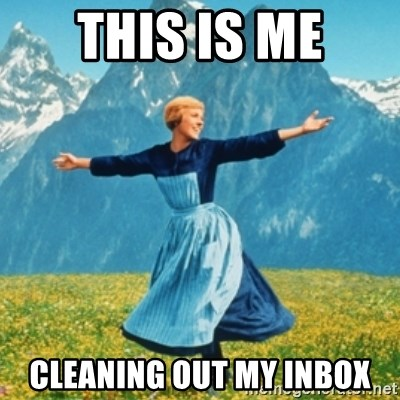 Sound Of Music Lady - THIS IS ME CLEANING OUT MY INBOX