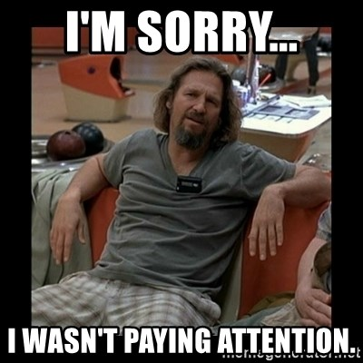 The Dude - I'm sorry... I wasn't paying attention.