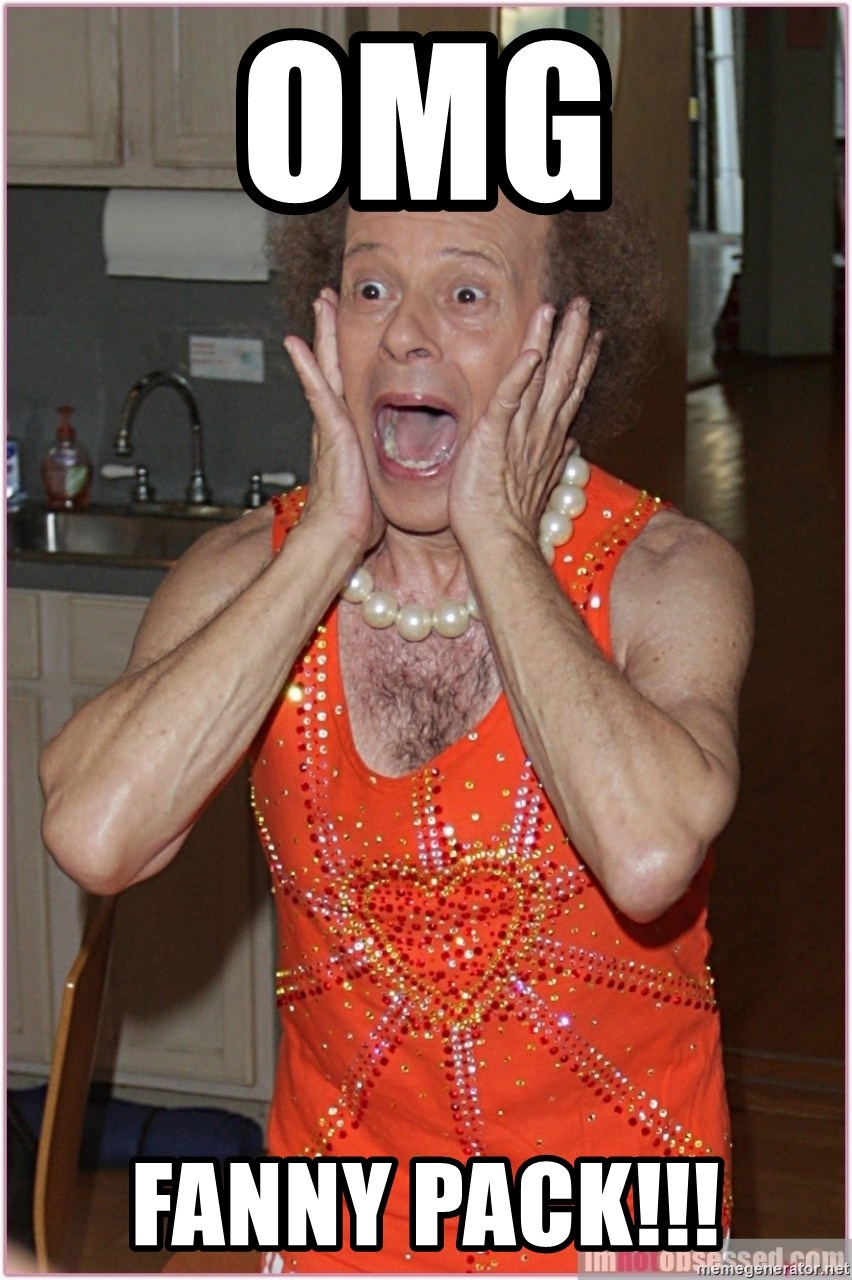 Omg Fanny Pack Richard Simmons Yelling Meme Generator