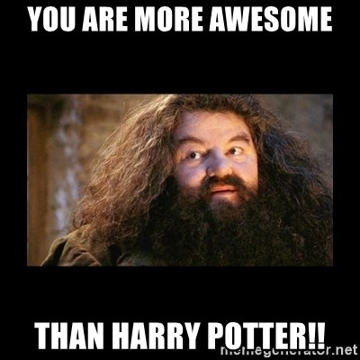 You're a Wizard Harry - You are MORE AWESOME  than Harry potter!!