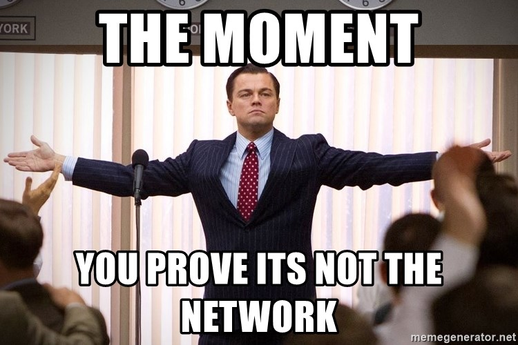 THE MOMENT YOU PROVE ITS NOT THE NETWORK - Dicaprio Wolf of Wall Street |  Meme Generator