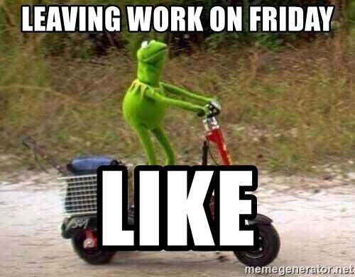 Kermit Scooter - Leaving work on Friday Like