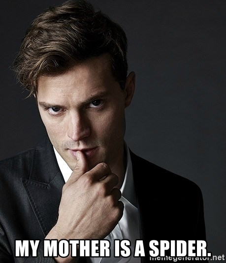 Christian Grey Jamie Dornan - My mother is a spider.
