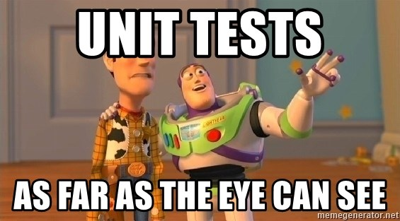 buzz as far as the eye can see - Unit tests as far as the eye can see