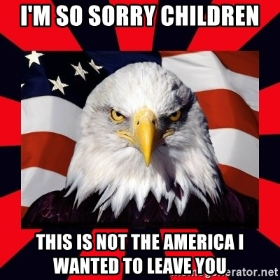 Bald Eagle - i'm so sorry children this is not the america i wanted to leave you