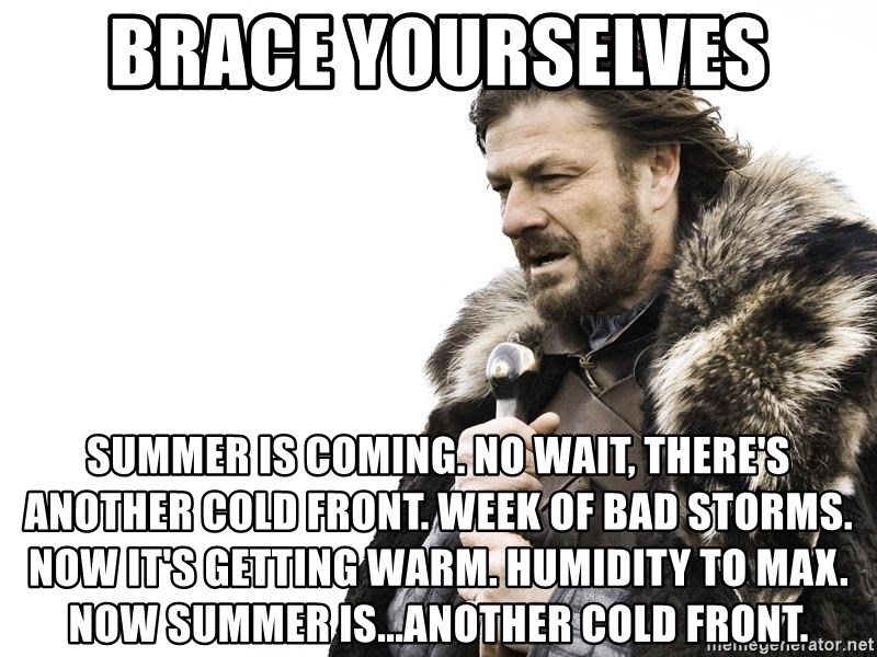 Brace Yourselves Summer Is Coming: Brace Yourselves Summer Is Coming. No Wait, There's