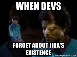Sad Michael Jackson Chair - When Devs Forget about Jira's existence