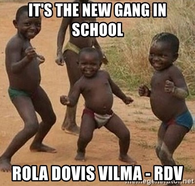 Dancing african boy - it's the new gang in school rola dovis vilma - rdv