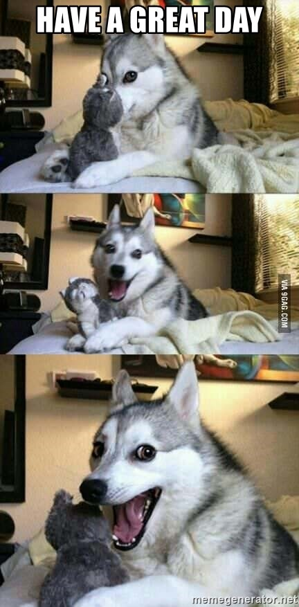 Have A Great Day Funny Husky Meme Generator