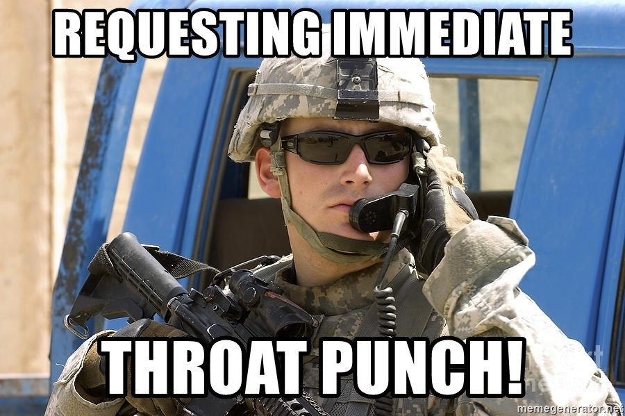 Requesting Immediate Throat Punch Army Rto Meme Generator