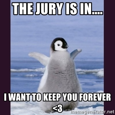 Cute Penguin - THE JURY IS IN.... I WANT TO KEEP YOU FOREVER  <3
