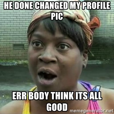 Sweet Brown OH LAWD JESUS - He done changed my profile pic err body think its all good