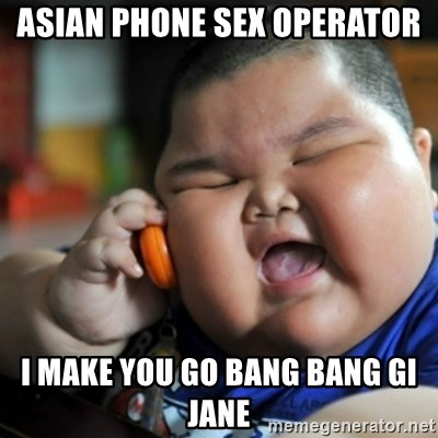 Asian phone operator sex
