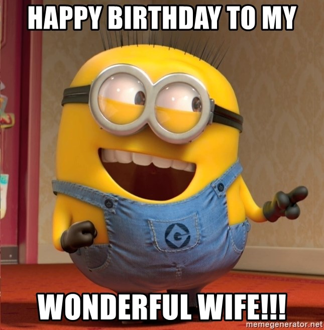 dave le minion - HAPPY BIRTHDAY TO MY WONDERFUL WIFE!!!